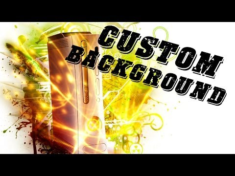 Custom Xbox 360 Background Tutorial with Template