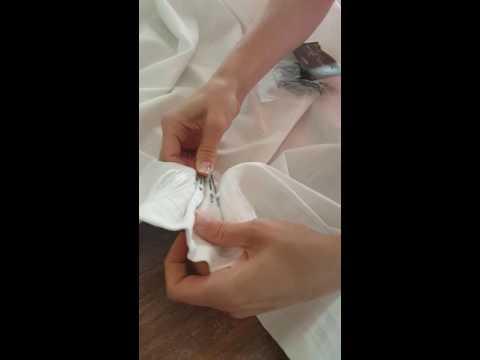 Turn Ikea Ritva Curtains into Pinch Pleat Curtains