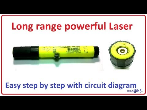How to make long range powerful laser easy at home - step by step