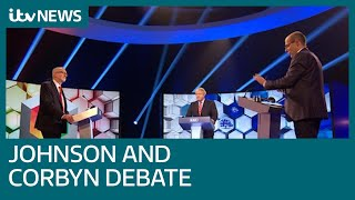 Johnson and Corbyn clash on Brexit in TV head-to-head election debate   ITV News