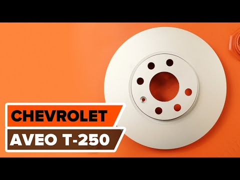 How to replace front brake discs and front brake pads on CHEVROLET AVEO T-250 TUTORIAL | AUTODOC
