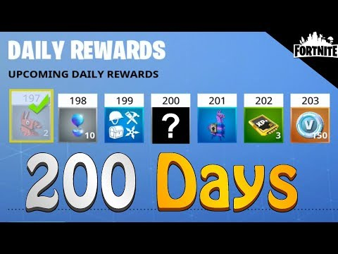 FORTNITE - Rewards You Get After Logging In 200 Days (Daily Login Loot)