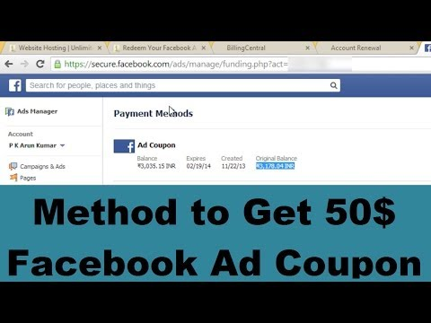 [NOT Working] Method to Get 50$ Facebook Ad Coupon