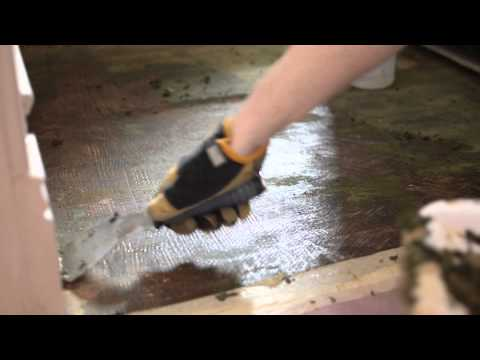 Removing adhesive from hardwoods covered with Linoleum and Green Felt Jute