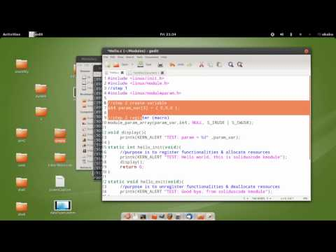 Linux Kernel Module Programming - 04 Passing Arugments to Kernel Module