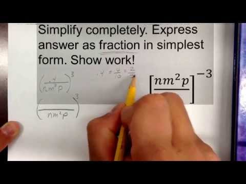 Simplifying negative exponents #1