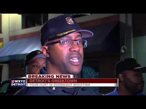 Four shot overnight in Detroit's Greektown