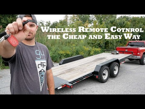 Wireless Trailer Remote For Winch and Hydraulic Tilt