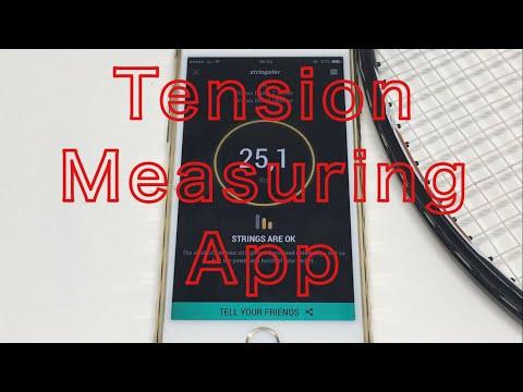 【Stringster App Review】badminton racket string tension level measure/tension guide/tension meter