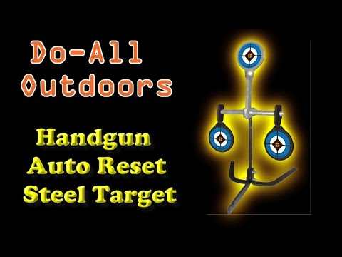 Review:   Do-All Outdoors - Handgun Auto Reset Trap Steel Target, Rated for .38 - .44 Caliber
