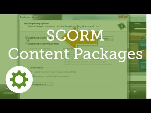 Camtasia Studio 8.1: SCORM Content Packages