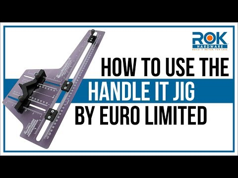 How to Install Cabinet Knobs & Pulls With The Euro Handle It Tool/Jig