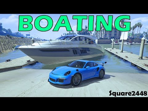 Boating | Giant Yacht | Porshe GT3RS | GTA 5