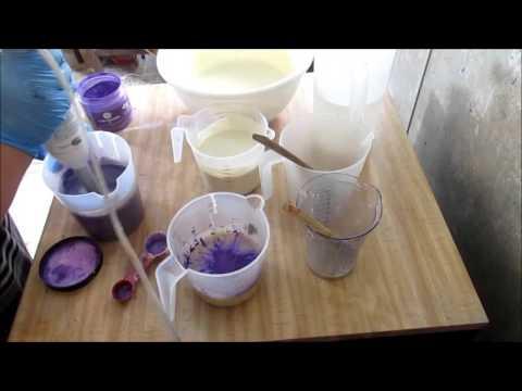 Homemade Cold Process Soap, Making Blackberry Jam Soap Cake