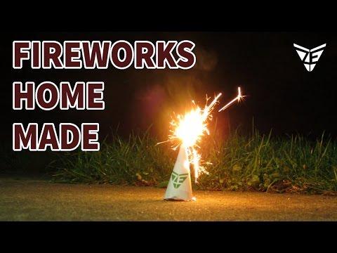 Homemade Fireworks Volcano Fountain
