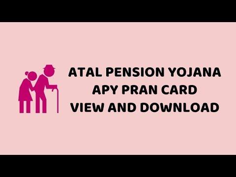 Atal Pension Yojana APY PRAN Card View And Download     Easy Tutorials In Hindi