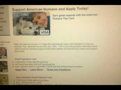 USBank: American Humane Visa Platinum Card