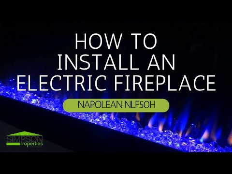 HOW TO INSTALL A NAPOLEON ELECTRIC LINEAR FIREPLACE