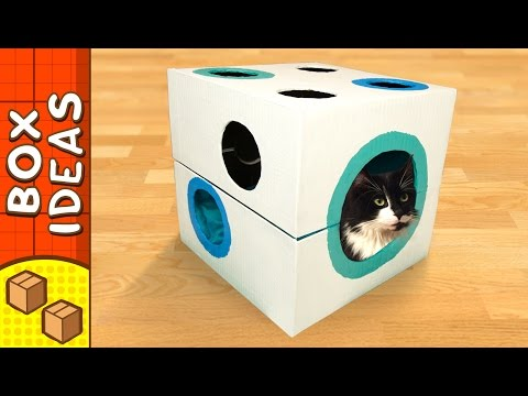DIY Cat Bed - Dice | Craft Ideas for Kids on Box Yourself