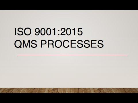 ISO 9001 2015 QMS Processes