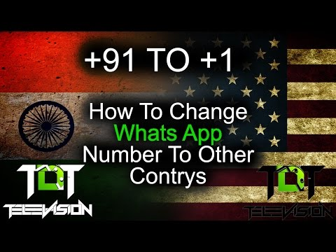 How to change whats app number with other contrys no for free