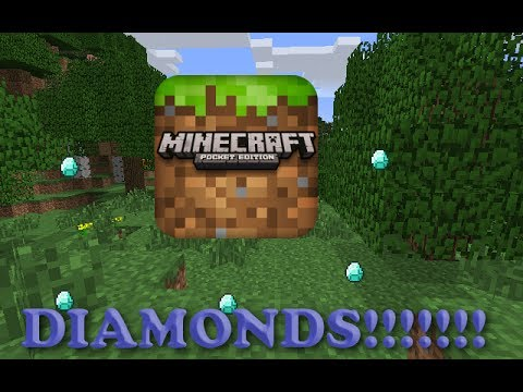 Diamonds,Gold,and More:Seed | Minecraft Pocket Edition 0.8.1