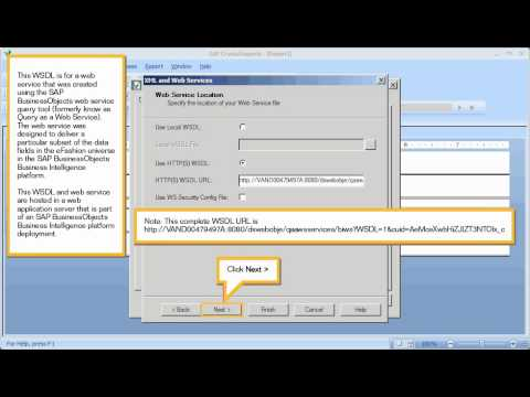Connect to a web service: Crystal Reports 2011