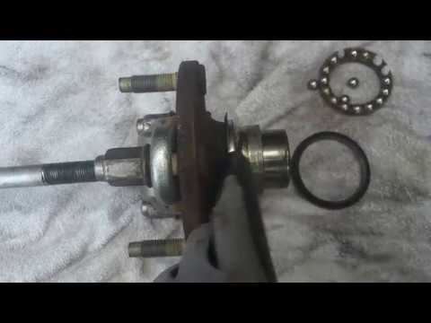 How to replace front wheel bearing & hub press in type Mazda tribute