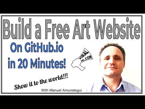 Show it to the World! Build a Free Art Portfolio Website on GitHub.io in 20 Minutes!