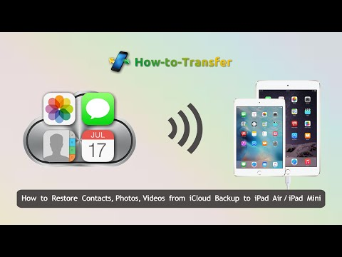How to Restore Data from iCloud Backup to iPad Air/iPad Mini