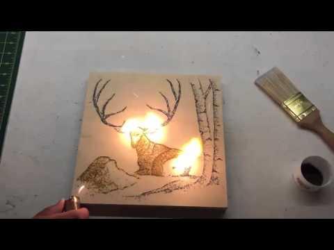 Napping Deer | Gunpowder Art | Paint With Gunpowder