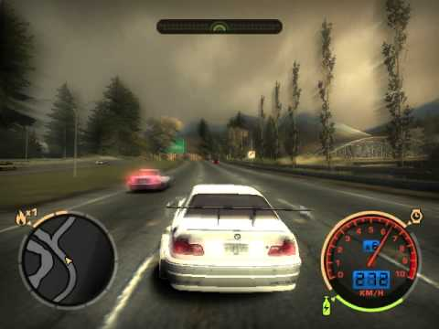 Need for Speed Most Wanted testing the BMW on manual speed change