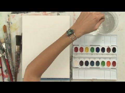How to Make Liquid Watercolors : Watercolor Painting