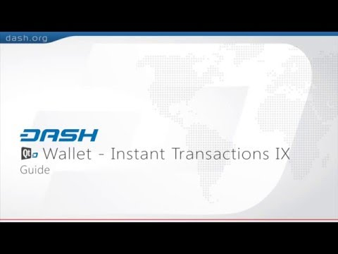 Dash: QT Wallet How to use Instant Transactions = G15E16