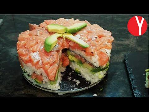PASTEL DE SUSHI - YOCOMO Sushi Cake