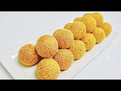 how to make Sesame Balls with Mung Beans/Bánh Cam/ Bánh Rán