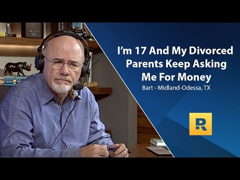 I'm 17 And My Divorced Parents Keep Asking Me For Money