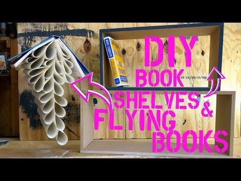 DIY Flying Books & Floating Shelves | Teacher Vlog