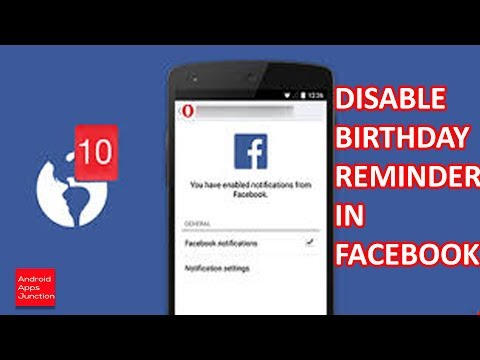 Facebook birthday notification: Disable Facebook birthday notification in Iphone
