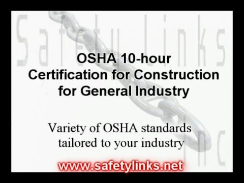 OSHA 10-hour Certification for General Industry