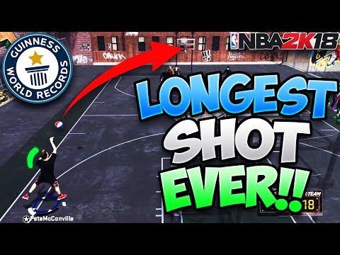 LONGEST SHOT IN 2K HISTORY!! (World Record) IT WAS GREEN! - NBA 2K18