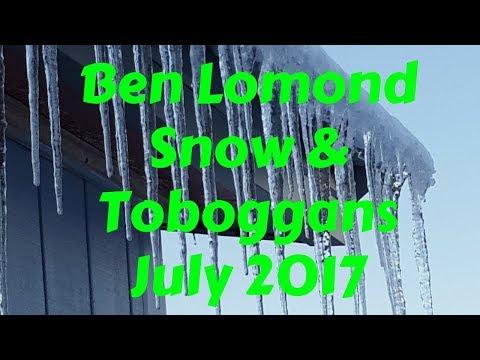 Ben Lomond - Snow & Toboggans - July 2017