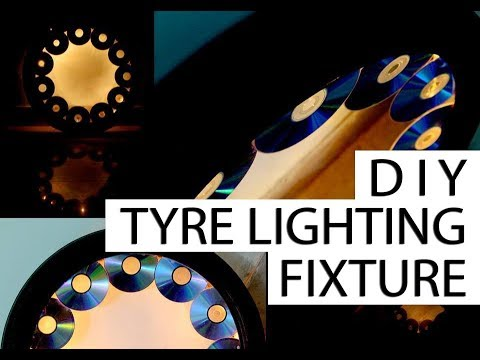 HOW TO MAKE LAMP | DIY | TYRE | RECYCLE | LIGHTING | FIXTURE | CEILING | LAMP | RONAK BALIYANE