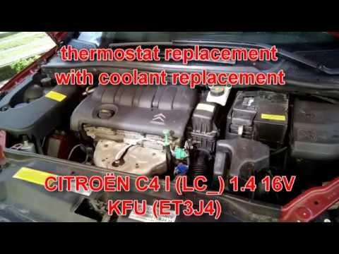 Citroen C4 ( peugeot ) LC 1.4 16V KFU ( ET3J4 ); failed thermostat replacement