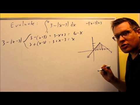 Evaluating a Definite Integral Using 1st Fund. Theorem of Calc. (Abs)