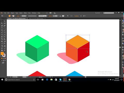 Illustrator Tutorials | 3D Cubes