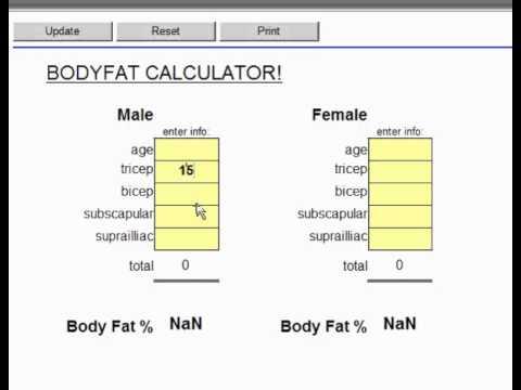 Bodyfat Skinfold Test