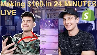 Meet Max, 20 Year Old Making 100k/m - Making $160 Live - Shopify Drop-shipping