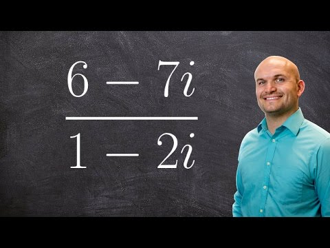 How to write the quotient of complex numbers in standard form