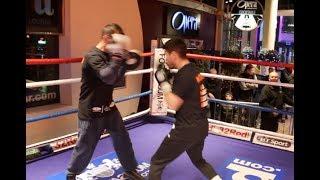 British Champion!! - Thomas Patrick Ward Works The Pads W/ Brother Martin Ahead Of Sean Davis Clash